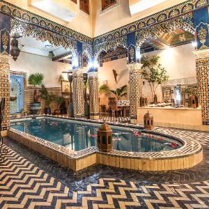 Décoration marocaine d'un Riad à Marrakech