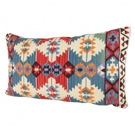 Housse de coussin artisanal en laine Anashi Vert