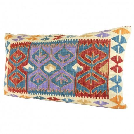 Coussin kilim ethnique 100x60 Kummani, décoration orientale