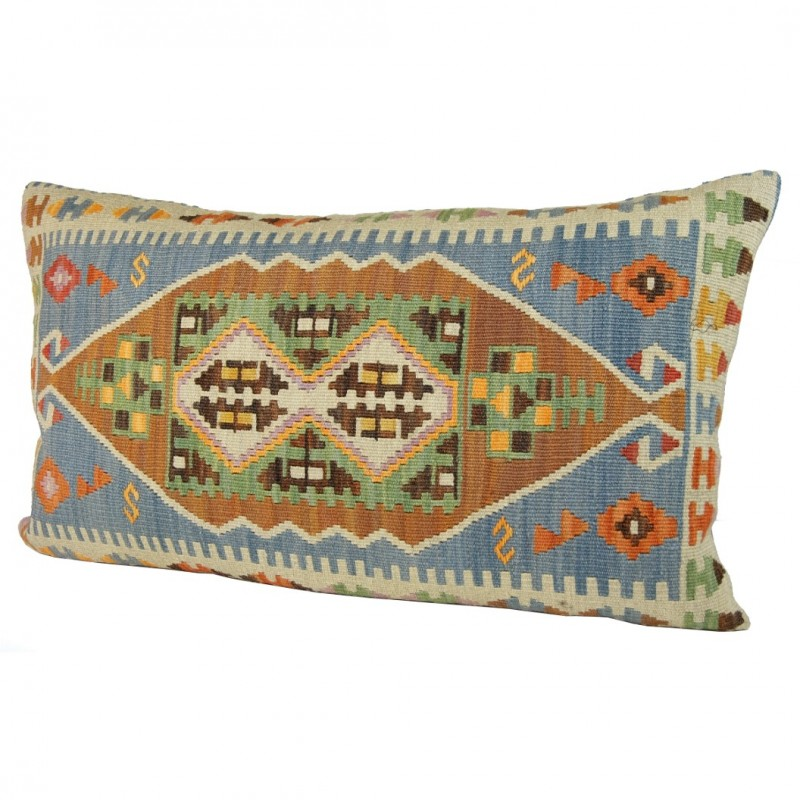 coussin sinope bleu en kilim oriental turc. Black Bedroom Furniture Sets. Home Design Ideas