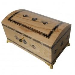 Coffret en bois et marqueterie Hotep clair