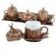Service à thé oriental en métal couleur cuivre Odjak