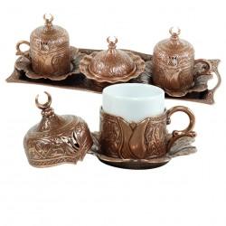 Service à thé en métal travaillé Odjak cuivré
