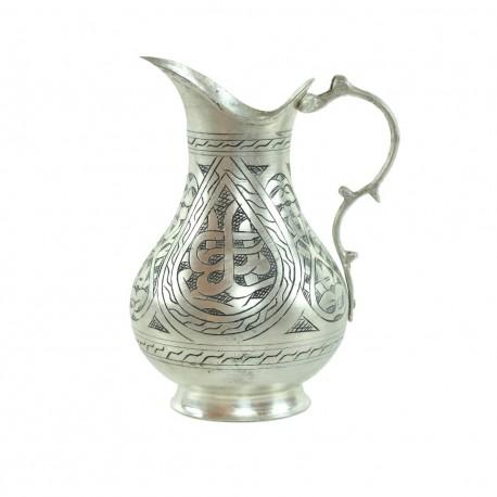 Carafe en cuivre engravé Mayiz de style oriental anatolien