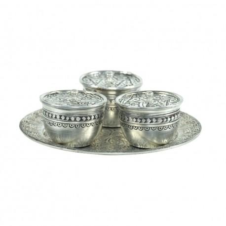 Cadeau artisanal, set à épices en cuivre Nisan