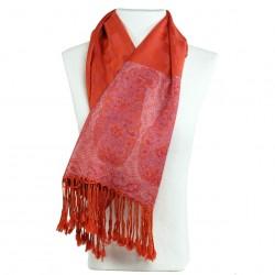 Pashmina rouge groseille Hayal style boho chic