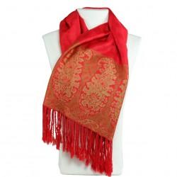 Etole pashmina rouge carmin Hayal, idée cadeau coloré