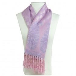 Châle pashmina mauve lilas Hayal, foulard oriental