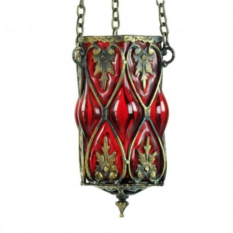 Lampe orientale d'artisanat d'art rouge Dusares