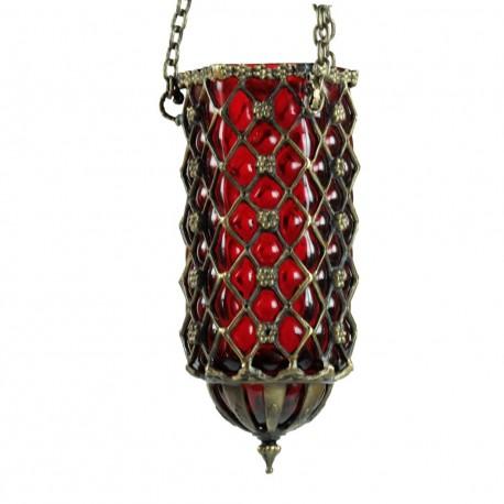 Suspension décorative orientale en verre soufflé rouge Hadad