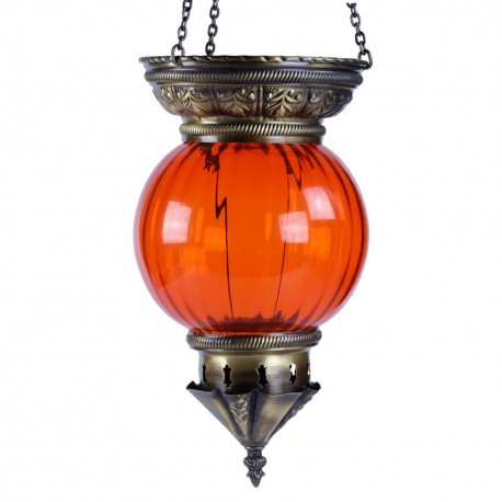 Lampe orientale colorée orange Kirisha