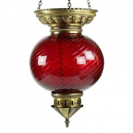 Lampe orientale rouge Nergal