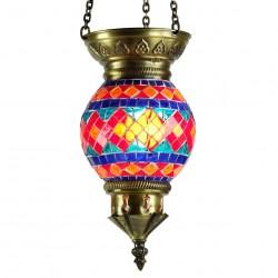 Lampe turque en mosaïque Mithra