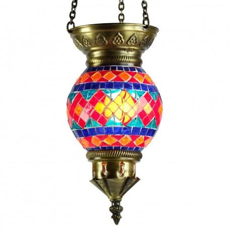 Lampe turque mosaïque et laiton Mithra
