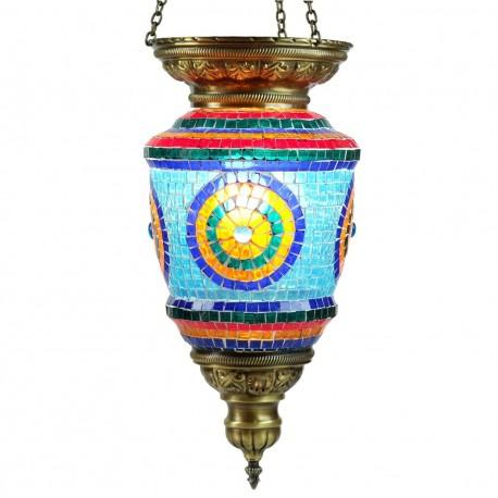 Lustre turc oriental en mosaïque Tiâmat, décoration orientale