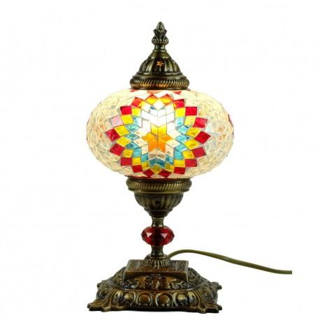 Lampe de chevet orientale baal en mosa que translucide for Lampe de chevet orientale
