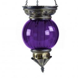 Lanterne exotique orientale violette Kirisha pour décoration bohème