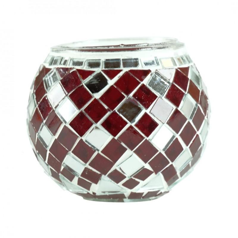 photophore oriental anshar en mosa que rouge. Black Bedroom Furniture Sets. Home Design Ideas