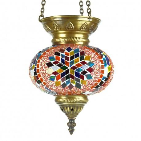Lampe turque mosaique multicolore Ninmah