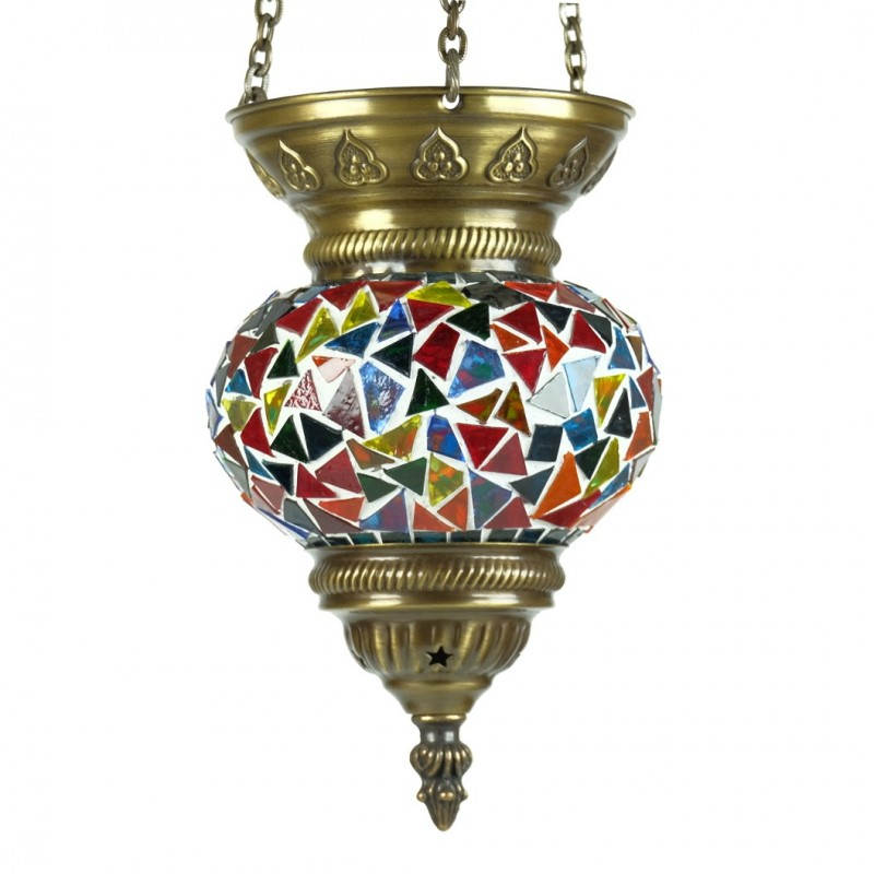 lampe ethnique fa s en mosa que multicolore. Black Bedroom Furniture Sets. Home Design Ideas