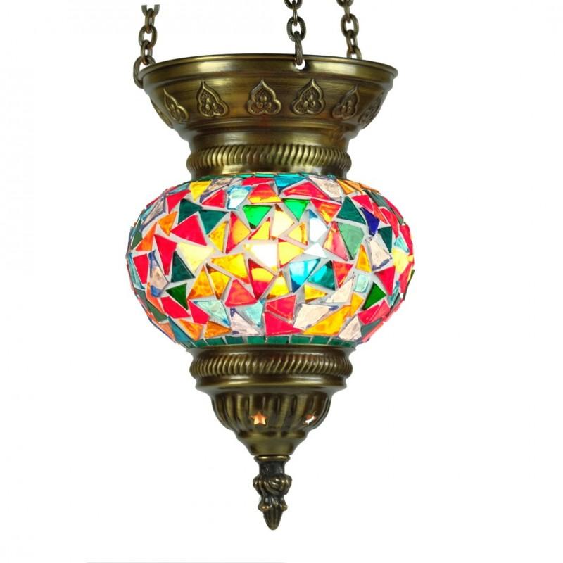lampe ethnique fa s en mosa que multicolore orientale turque. Black Bedroom Furniture Sets. Home Design Ideas