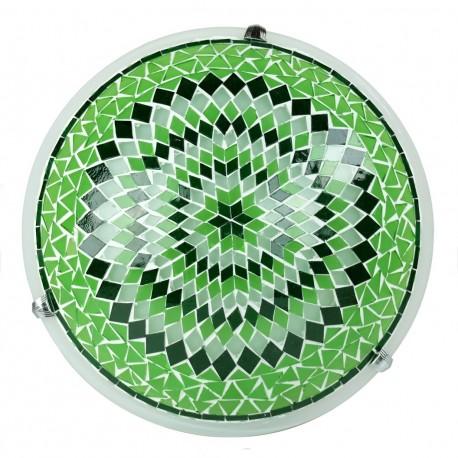 Plafonnier mosaïque vert Eshtan, décoration bohème