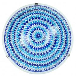 Plafonnier oriental bleu Ninlil