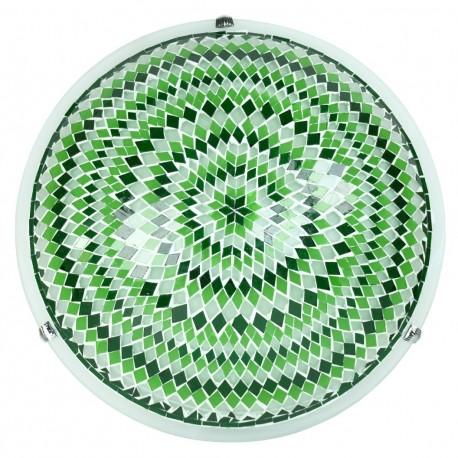 Plafonnier ethnique vert Ninlil style oriental
