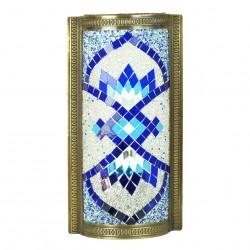 Applique orientale decorative Isparta en mosaïque et laiton