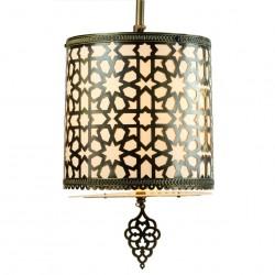 Lampe marocaine Ehreli au décor oriental en laiton ciselé
