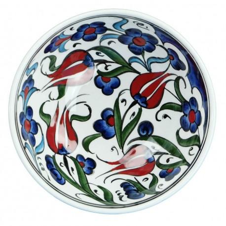 Vaisselle turque orientale, coupelle en céramique Ceylan 12cm, style Iznik