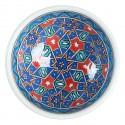Bol en céramique orientale Seldjouk rouge 12cm
