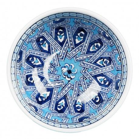 Petit bol ethnique Melis Bleu 10cm, cadeau insolite