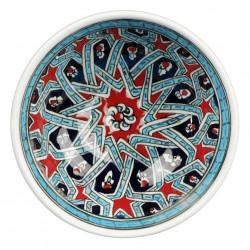 Cadeau artisanal, Bol oriental Melis 12cm décoré de motifs géométriques