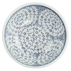 Bol à café artisanal Hava 16cm avec grandes spirales (céramique de style Iznik)