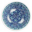 Bol bleu et turquoise Seldjouk 16cm