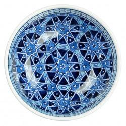 Vaisselle orientale aux arabesques orientales, Bol bleu Seldjouk 16cm