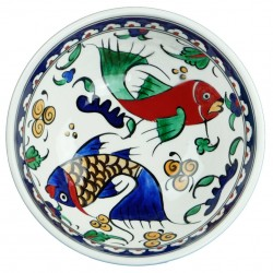 Vaisselle orientale, Bol décoré de poissons Balik 16cm