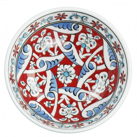Cadeau chic, bol rouge en céramique orientale Heyla 16cm style Baba Nakkash