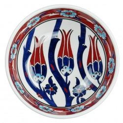 Vaisselle ethnique, bol oriental décoré de tulipes Gouri 16cm