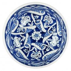 Vaisselle orientale, bol ottoman bleu Heyla 16cm en céramique d'Iznik