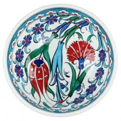 Vaisselle bohème, Bol en céramique turque Ceylan 15cm