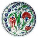 Bol déco bohème Ceylan 16cm avec frise bleue