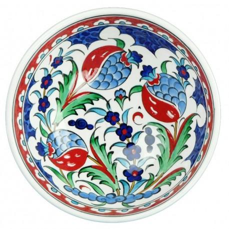 Bol original Ceylan 16cm, décoration bohème fleurie