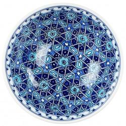 Bol Seldjouk bleu 20cm pour les amateurs de vaisselle marocaine
