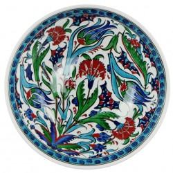 Vaisselle orientale, Bol décoré de fleurs Ceylan 20cm