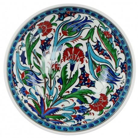 Bol décoré de fleurs Ceylan 20cm, vaisselle orientale