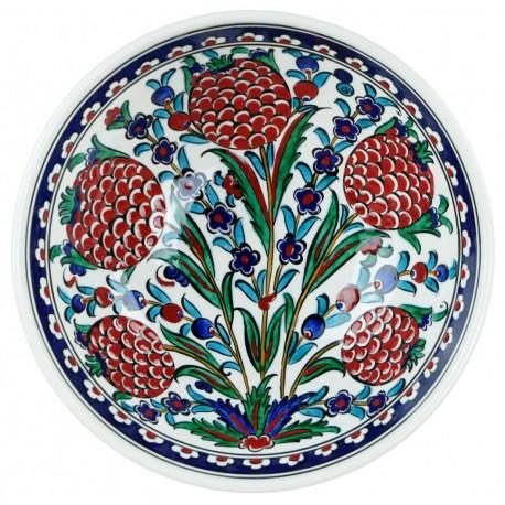 Beau bol fait main Turgay 20cm, cadeau raffiné, décoration chic bohème