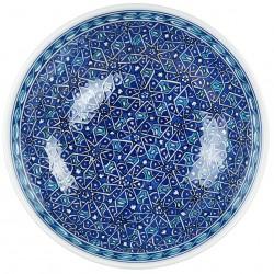 Saladier bleu Seldjouk 25cm, vaisselle orientale