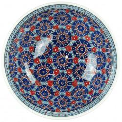 Vaisselle orientale, Grand bol Seldjouk 25cm au décor géométrique